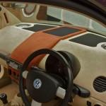 VW Beetle custom fabricated dash housing Rainbow Vanadium subwoofer in custom sealed enclosure, Rainbow Reference midrage in custom vented enclosure, Hertz mille tweeters, Hertz ribbon super tweeters all powered off Audison Thesis HV Venti amplifiers