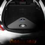 Vauxhall Insignia with custom boot fabrication - Amplifier and subwoofer exposed