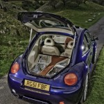 VW Beetle - Four Audison Thesis HV Venti amplifiers, Pioneer ODR RS-P90, Sonic Systems