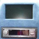 "Pioneer 7"" screen built in to custom centre console with the Pioneer DEX-P90RS - P90 combo"
